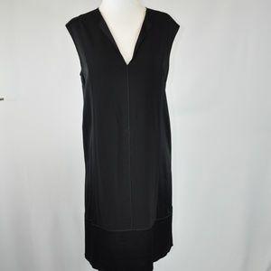 Vince Black V Neck Sleeveless Dress - S